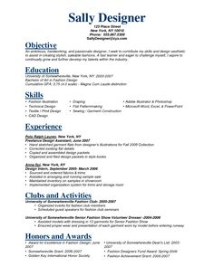 fashion stylist resume objective httpwwwresumecareerinfofashion - Fashion Resume Objective Examples