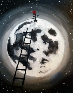 The Little Rose on the Moon at Fionn MacCool's Gateway - Paint Nite Events near Edmonton, AB>