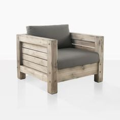 Lodge Rustic Teak Outdoor Lounge Chair