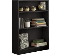 Buy HOME 2 Shelf Small Bookcase - Black | Bookcases and shelving units | Argos