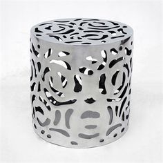 Allan Copley Designs 20911-02 Cozumel Round End Table This End Table from Allan Copley Designs is offered in an aluminum finish.  Cozumel Round End Tabl…