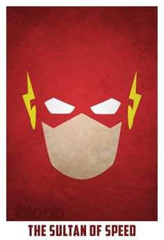 Minimalist Superhero Posters /// The Flash