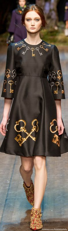 """Dolce & Gabbana / F/W 2014 RTW. """"Enchanted Sicilia"""" enchanted forest rose from the bowels of the Metropol while snow swirled and Tchaikovsky's """"Dance of the Sugar Plum Fairy"""" played."""