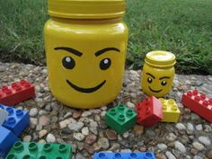 A mama with ideas...: Lego minifig head storage container...