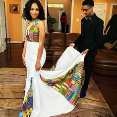 This woman, whose kente dress featured a mesmerizing patchwork of fabrics. 18 Fierce AF African Prom Dresses That'll Give You Life African Wedding Attire, African Attire, African Wear, African Dress, African Wedding Theme, African Weddings, African Prom Dresses, African Fashion Dresses, Dresses Dresses