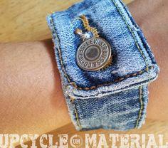 Levis Blue Jean Cuff Bracelet