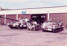 Armoured vehicles in Berlin camouflage scheme. West Berlin, Berlin Wall, Patton Tank, The Centurions, Tank Design, Military Photos, Korean War, Armored Vehicles, British Army