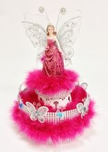 """DIY 13"""" Quinceanera Figurine w/Boa and Butterfly Centerpiece  #DQ108"""