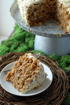 Hummingbird Cake (Carrot-Banana Cake with Cream Cheese Pecan Frosting)