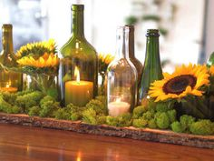 Sabrina Soto uses wine bottles and squash to make festive centerpieces. Watch on ulive