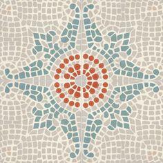 Ladrilho Hidráulico Decorado Modelo Mosaico