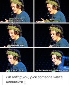Aww..Harry is so sweet! But for real, what jerk would break up with someone for going to a 1D concert...smh.