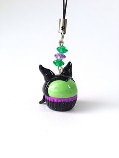 Maleficent Disney Inspired Cupcake Polymer Clay Charm