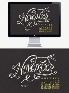 November Calendar Desktop Wallpaper #downloads