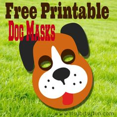 Printable Dog Mask Free Template