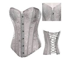 Sexy strapless satin floral bustier corset bustiers and corsets 3