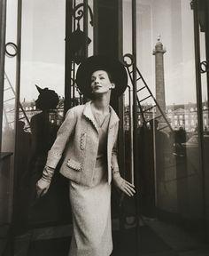 Ruth in Chanel, photo by Gleb Derujinsky, 1957