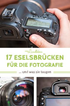 17 donkey bridges for photography - and what they are good for- 17 Eselsbrücken für die Fotografie – und was sie taugen 17 donkey bridges for photography – and what they are good for -