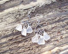 Etsy で見つけた素敵な商品はここからチェック: https://www.etsy.com/jp/listing/274613440/sea-glass-chandelier-earrings-sterling