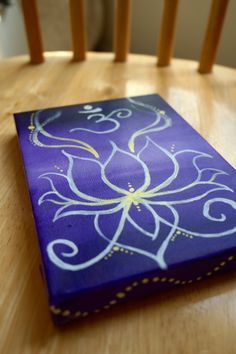 Lotus and OM painting by LittleBohoBoutique on Etsy