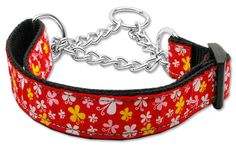 Mirage Pet Products Martingale Butterfly Nylon Ribbon Collar, Medium, Red >> Amazing product just a click away  : Collars for dogs