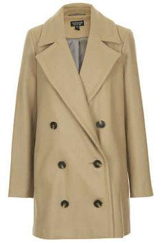 Double Breasted Pea Coat - Jackets & Coats  - Clothing