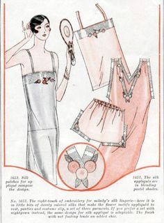Vintage Lingerie, 1920s Step In