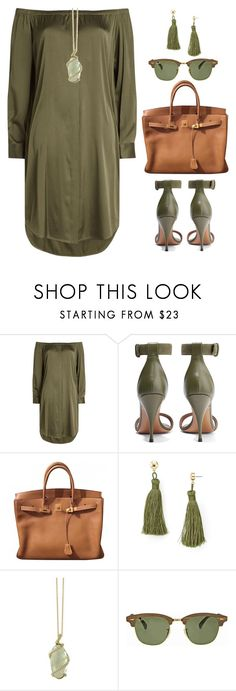"""Untitled #1762"" by ebramos ❤ liked on Polyvore featuring DKNY, Givenchy, Hermès, Aqua, Effy Jewelry and Ray-Ban"