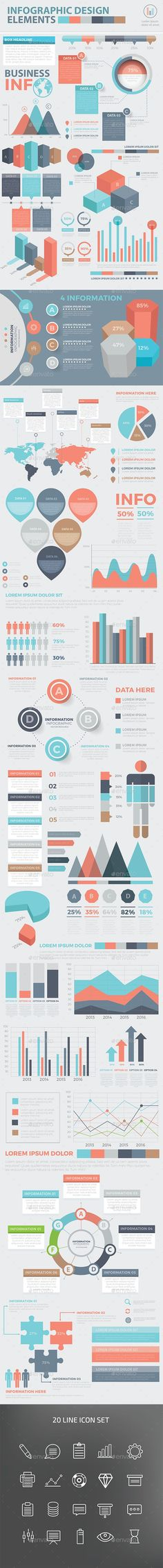 Modern Infographic Elements Design Templates Vector EPS, AI Illustrator…