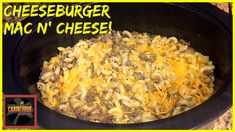 Follow the link for this goodness Cheeseburger Mac And Cheese, Crockpot, Link, Food, Healthy Slow Cooker, Crock Pot, Meals, Slow Cooker, Yemek