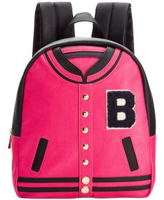 We're totally obsessed with this adorable Betsey Johnson Varsity backpack. If you have your eye on the title of Most Stylish this year, we think you've got it in the bag
