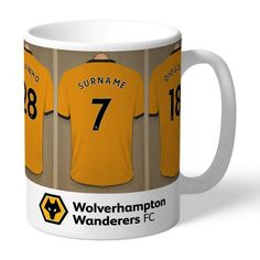 Personalised Ceramic Mug - Wolves Dressing Room 6x4 Photo Frames, Love Heart Images, Personalized Mugs, Personalised Football, Dressing Room Design, Gifts For Sports Fans, Special Gifts, Wolves, Best Gifts