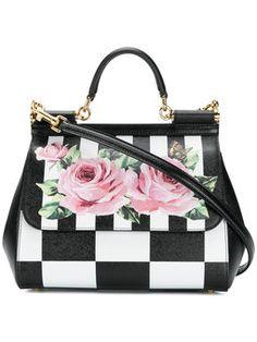 7f1a32b219 Sicily checkered shoulder bag Dolce   Gabbana