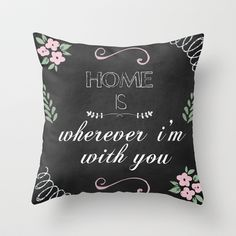 Home. Throw Pillow by Maybesparrowphotography - $20.00