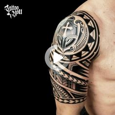 Tribal Shoulder Tattoos, Tattoos Arm Mann, Tribal Tattoos For Men, Mens Shoulder Tattoo, Tribal Sleeve Tattoos, Best Sleeve Tattoos, Arm Tattoos For Man, Celtic Cross Tattoos, Cross Tattoo For Men