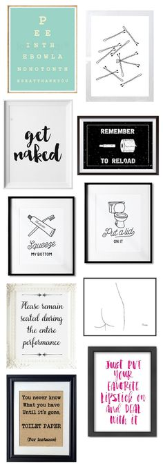 10 Funny (Yet Classy) Bathroom Prints