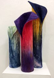 Marjan Kluepfel: Sculpture and Abstract Art Gallery Textile Sculpture, Textile Fiber Art, Textile Artists, Sculpture Art, Fiber Art Quilts, Cement Art, Cement Crafts, Wet Felting Projects, Fabric Bowls