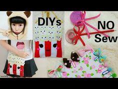 3 No Sew Fun DIYs: DIY Popcorn Purse + DIY lollipop Pens + DIY Bow Paperclips+Review - YouTube