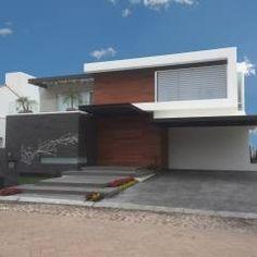 Fachada: Casas de estilo moderno por AParquitectos