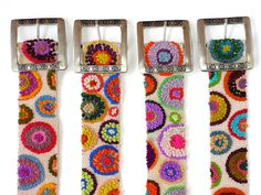 Wool embroidered belt with circles, belt embroidered, White belts, Beautiful handmade belt, colorful belts, women's belts, woman accessories