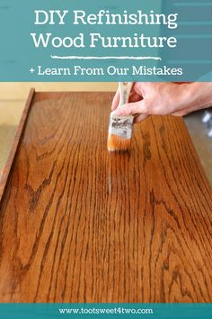 If you're working from home due to COVID-19 like us, you might be in need of a new desk! We didn't want to spend a fortune on a new desk, so this was our first experience refinishing wood furniture. #OfficeDecor #HomeDecor #DiyDecor #DIYFurniture #DiyHomeDecor