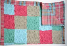 Un plaid à tricoter pour bébé Tricotez ce plaid tout doux pour câliner bébé et lui tenir chaud pendant l'hiver.