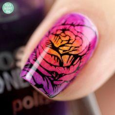 Twin-Nails mit Lilalack – Gradient Rosen mit p2 (Tutorial) – frischlackiert.de – Mein Nagellack-Blog