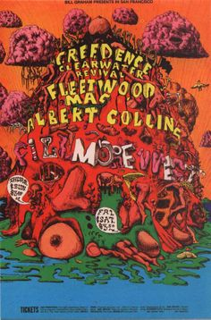 THIS DAY IN 1969 - Creedence Clearwater Revival headlined the Fillmore West with Fleetwood Mac and Albert Collins.