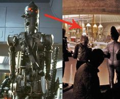 The bounty hunter droid was actually built from recycled film props. His head is the drink dispenser from the cantina scene in Star Wars: Episode IV - A New Hope. 58 Facts You Probably Didn't Know About The Star Wars Movies Starwars, Ig 88, Star Wars Bounty Hunter, Star Wars Facts, Star Wars Droids, Episode Iv, The Force Is Strong, A New Hope, Love Stars