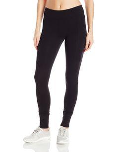 ed831dd3c1089 Marc New York Performance Women's Long Legging with Rib, Black, M. Elastic  waist