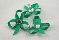 Tutorials: Petite Ribbon Shamrocks