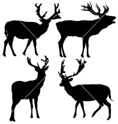 how to draw a deer silhouette