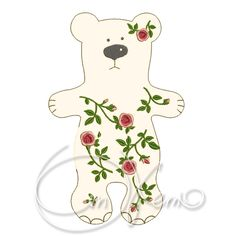 In the hoop MACHINE EMBROIDERY File - ITH roses Bear, Bear toy by OTKETO on Etsy  OTKETO machine embroidery designs: Etsy: https://www.etsy.com/shop/OTKETO Instagram: https://www.instagram.com/otketo YouTube: https://www.youtube.com/otketo
