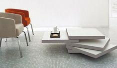 Moderne attraktive Couchtische fürs Wohnzimmer – 50 coole Bilder - Moderne attraktive Couchtische fürs Wohnzimmer quadraten weiß